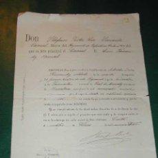 Militaria: CERTIFICADO MILITAR DE SOLTERÍA. CEUTA 1912. . Lote 16742009