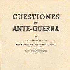 Militaria: CUESTIONES DE ANTE-GUERRA. Lote 20789736