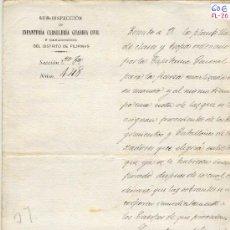Militaria: (FL-20)DOCUMENTO DE LA GUERRA DE FILIPINAS. Lote 4929930