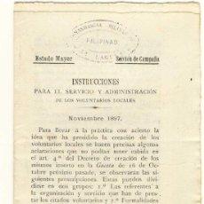 Militaria: (FL-21)DOCUMENTO DE LA GUERRA DE FILIPINAS. Lote 4929948