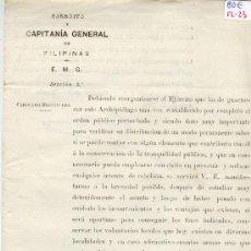 Militaria: (FL-23)DOCUMENTO DE LA GUERRA DE FILIPINAS. Lote 4929987