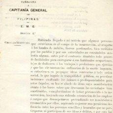 Militaria: (FL-24)DOCUMENTO DE LA GUERRA DE FILIPINAS. Lote 4929992