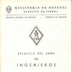 Militaria: 1979 ESCALILLA DEL ARMA DE INGENIEROS. Lote 26247842