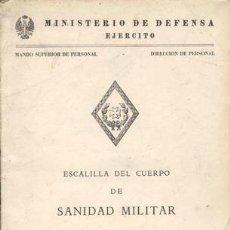 Militaria: 1986 ESCALILLA DEL CUERPO DE SANIDAD MILITAR. Lote 27604288