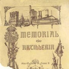 Militaria: 1928 MEMORIAL DE ARTILLERIA. Lote 26483181