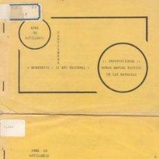 Militaria: 1937 GUERRA CIVIL DOS FOLLETOS DE ARTILLERIA. Lote 27111734