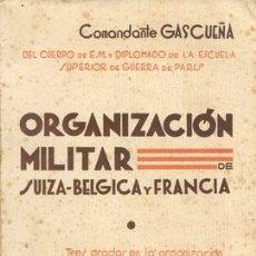 Militaria: 1933 ORGANIZACIÓN MILITAR DE SUIZA, BÉLGICA Y FRANCIA. Lote 26078408