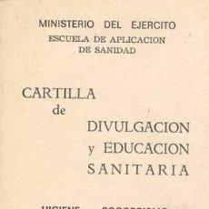 Militaria: CARTILLA MILITAR DE DIVULGACION SANITARIA. Lote 5577487