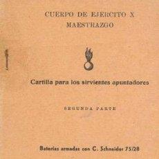 Militaria: APUNTADORES CAÑON SCHNEIDER 75/28. Lote 220533543