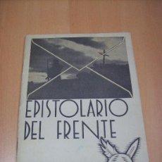 Militaria: LIBRO EPISTOLARIO DEL FRENTE 1937. Lote 27457472