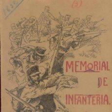 Militaria: AGOSTO 1912 MEMORIAL DE INFANTERIA. Lote 20891862