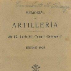 Militaria - ENERO 1925 MEMORIAL DE ARTILLERIA - 22458694