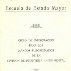 Militaria: INFORMACION PARA MANDOS DE LA DIVISION DE INFANTERIA. Lote 20987352