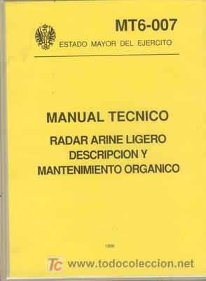 MANUAL TECNICO RADAR ARINE LIGERO (Militar - Libros y Literatura Militar)