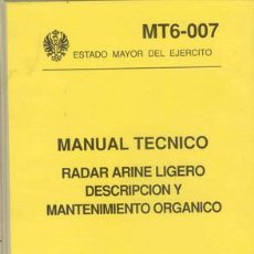 Militaria: MANUAL TECNICO RADAR ARINE LIGERO. Lote 26862699