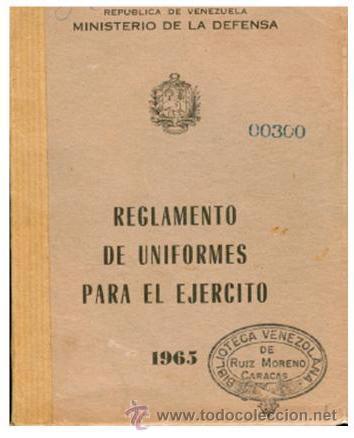 CD ROM, REGLAMENTO DE UNIFORMES MILITARES DEL EJERCITO DE VENEZUELA, ILUSTRADO A COLOR (Militar - Libros y Literatura Militar)