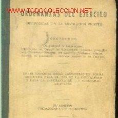 Militaria: ORDENANZAS DEL EJERCITO (MADRID, 1958). Lote 25747978