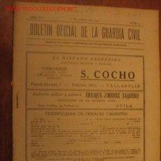 Militaria: BOLETÍN OFICIAL DE LA GUARDIA CIVIL, 1 DE ABRIL DE 1941. Lote 2504897