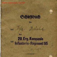 Militaria: ALEMANIA III REICH. LIBRO DE TIRO DE LA WEHRMACHT . 1938 . Lote 2701763