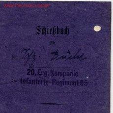 Militaria: ALEMANIA III REICH. LIBRO DE TIRO DE LA WEHRMACHT . 1938 . Lote 2701767