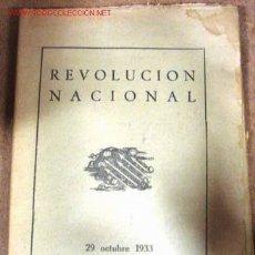 Militaria: REVOLUCIÓN NACIONAL, 29 OCTUBRE 1933- 29 OCTUBRE 1953, 32 PÁGINAS. Lote 2841175