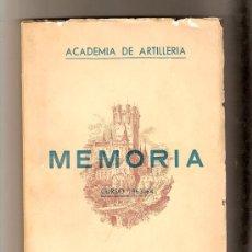Militaria: MEMORIA- ACADEMIA DE ARTILLERIA- CURSO 1963-64.2º CENTENARIO CUERPO ARTILLERIA- VELL I BELL. Lote 26263022