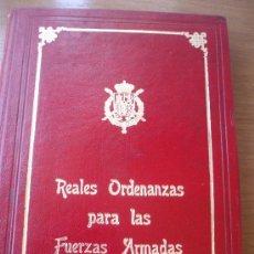 Militaria: REALES ORDENANZAS PARA LAS FUERZAS ARMADAS (EDICIÓN LIMITADA Y NUMERADA). Lote 27447095