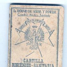 Militaria: CARTILLA HIGIENICO SANITARIA DEL SOLDADO DE 1945. Lote 23955910