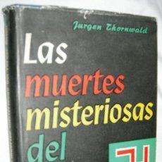 Militaria: LAS MUERTES MISTERIOSAS DEL TERCER REICH ED. LUIS DE CARALT, BARCELONA (1ª EDICIÓN), 1956. . Lote 13461242