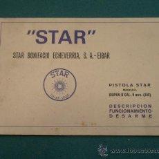 Militaria: FOLLETO PISTOLA STAR, MODELO SUPER-S, CALIBRE 9 MM. Lote 12679523
