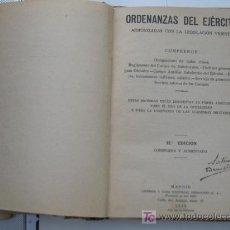Militaria: GUERRA CIVIL, ORDENANZAS DEL EJERCITO NACIONAL 1939.VER MAS FOTOS.. Lote 26729195