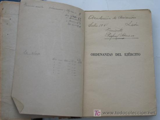 Militaria: Guerra Civil, Ordenanzas del Ejercito Nacional 1939.Ver mas fotos. - Foto 2 - 26729195