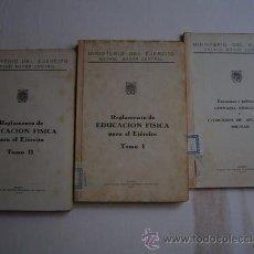 Militaria: 1947 EDUCACION FISICA PARA EL EJERCITO ESTADO MAYOR CENTRAL TRES TOMOS. Lote 25700604