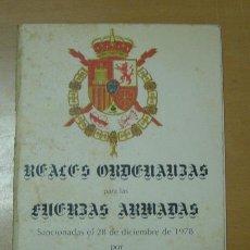 Militaria: LIBRO: REALES ORDENANZAS DE LAS FUERZAS ARMADAS. AÑO 1978. . Lote 13887461
