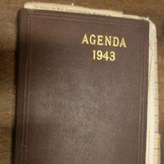 Militaria: AGENDA ALEMANA DE 1943, CON ANOTACIONES A LÁPIZ, CONTIENE VARIAS FACTURAS. Lote 14025527