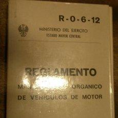 Militaria: MANTENIMIENTO ORGÁNICO DE VEHÍCULOS DE MOTOR, 275 PÁG.. Lote 14198731