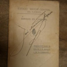 Militaria: LIBRO SERVICIO EN CAMPAÑA, REGLAMENTO PARA EL ENLACE Y SERVICIO DE TRANSMISIONES, 1925?.... Lote 14727112