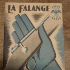 Militaria: LA FALANGE Y EL COMBATIENTE, 1938, 90 PÁG.. Lote 14781093