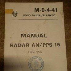 Militaria: MANUAL, RADAR AN/PPS 15, LÁMINAS, 1982, SIN Nº DE PÁG.. Lote 14929329