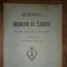 Militaria: MEMORIAL, INGENIEROS DEL EJÉRCITO, DICIEMBRE DE 1921. Lote 15303200