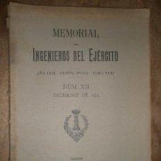 Militaria: MEMORIAL, INGENIEROS DEL EJÉRCITO, DICIEMBRE DE 1914, CON DESPLEGABLES. Lote 15303287