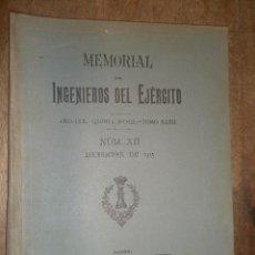 Militaria: MEMORIAL, INGENIEROS DEL EJÉRCITO, DICIEMBRE DE 1915. Lote 15303359