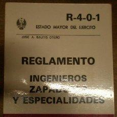 Militaria: INGENIEROS ZAPADORES Y ESPECIALIDADES, 1983, 261 PÁG.. Lote 15918036