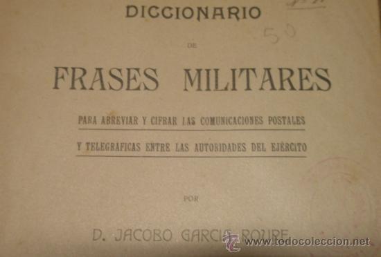 Diccionario De Frases Militares 1915 666 Pági Sold