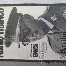 Militaria: PERIODICO ARRIBA. MURIO FRANCO.. Lote 50058074