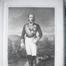 Militaria: 1852 BIOGRAFIA TTE. GRAL. DON FRANCISCO SERRANO Y DOMINGUEZ 42X31 CMS. Lote 25899993