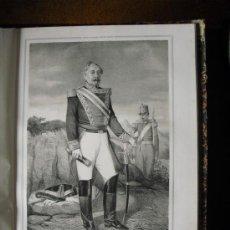 Militaria: 1852 BIOGRAFIA DEL TENIENTE GENERAL D. LEANDRO OSSORIO Y QUINDÓS IBAÑEZ MATAMOROS 42X31 CMS. Lote 27259679