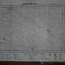 Militaria: 1938 GUERRA CIVIL MAPA MILITAR DE GRANADELLA EDITADO EN BARCELONA. Lote 20704130