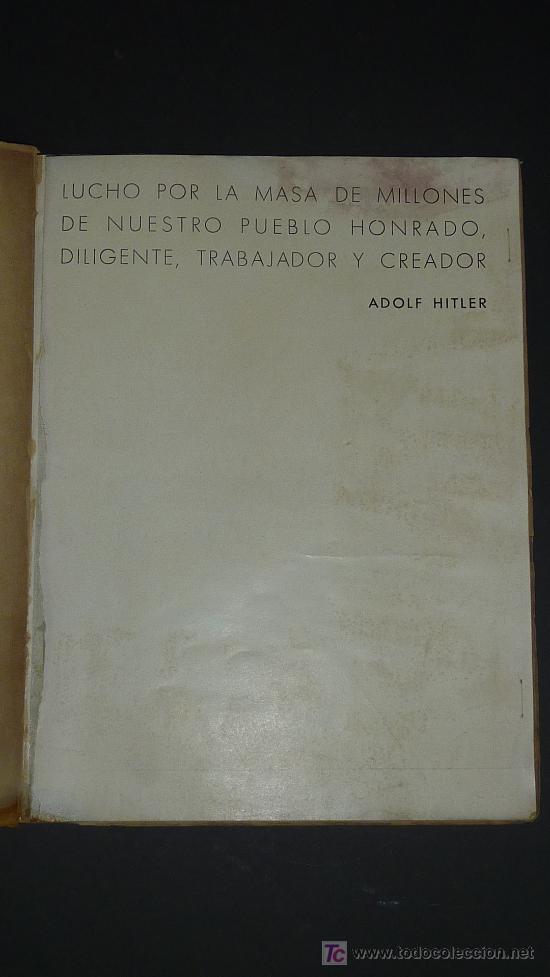 Militaria: Alemania en sus instituciones sociales. Libro hitleriano hecho en Barcelona en 1940. IIWW. - Foto 3 - 27611207