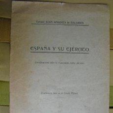 Militaria: 1914 ESPAÑA Y SU EJERCITO JUAN AMADEO DE BALDRICH ED. EN BUENOS AIRES. Lote 26098351